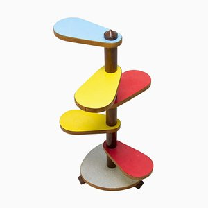 Formica and Beech Wood Plant Stand, 1960s, Czechoslovakia