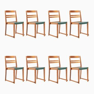 Orchestra Chairs by Sven Markelius, Sweden 1930s, Set of 8