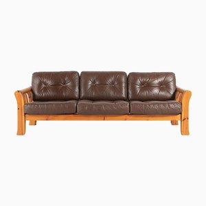 Swedish Modern Pine Frame Sofa, 1960s