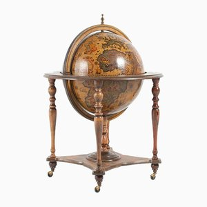 Chariot de Rangement pour Boissons Globe Vintage
