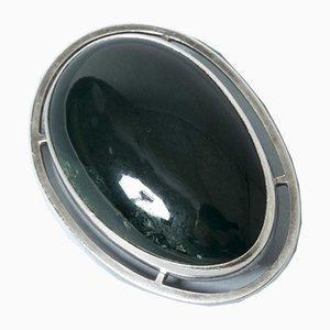 Spilla in argento e agata verde di Michelsen