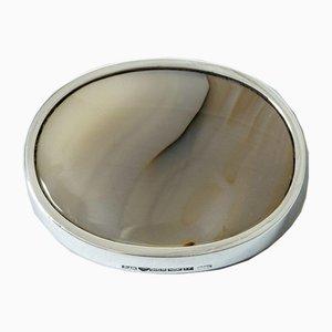 Broche de plata y ágata de Kaunis Koru