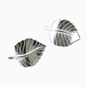 Silver Earrings by Sigurd Persson, Set of 2