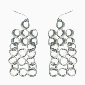 Silver Earrings by Cecilia Johansson, Set of 2