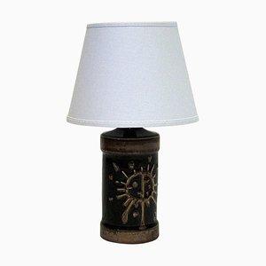 Lampe de Bureau en Céramique Émaillée Marron par Carl Harry Stålhane, Suède, 1960s