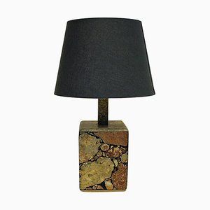 Scandinavian Stoneware Table Lamp, 1970s