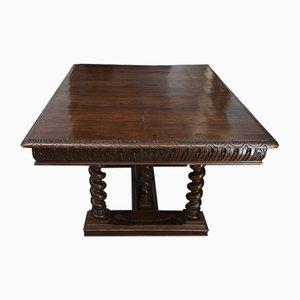Antique Umbertina Era Walnut Extendable Dining Table