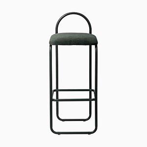 Minimalistischer Forest Velvet 92.5 Bar Chair