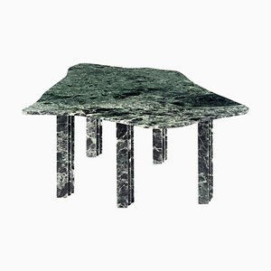 Mesa de centro escultural de mármol verde de Lorenzo Bini