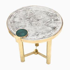 Tavolino Moona scolpito di Yann Dessauvages