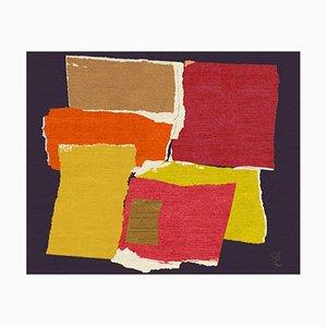 Tapis Coloré Rhizomes 4 Fait Main par Charlotte Culot