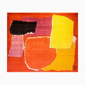 Colorful Rhizomes 1 Hand Knotted Rug by Charlotte Culot