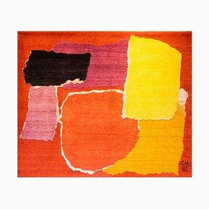 Tapis Colorful Rhizomes 1 Fait Main par Charlotte Culot