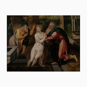 Cerchia di Frans Floris - Susanna and The Elders - Pittura - XVI secolo