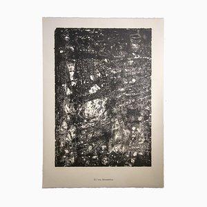 Lithographie originale de Jean Dubuffet, L'eau Dévastatrice, 1959