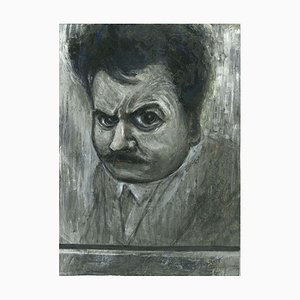 Gabriele Galantara, Portrait 1910, China Ink and Tempera, 1910