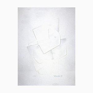 Hans Richter, Untitled, Original Embossing On Aluminium, 1970