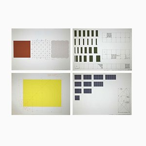 Renata Boero, Bending Hypothesis: 3,4,5,6 -set of 4 Screen Prints, 1980, Set of 4