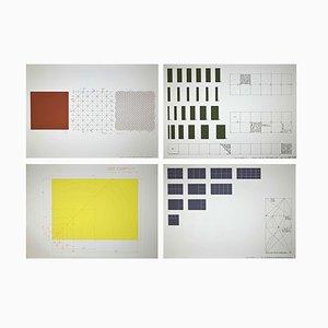 Renata Boero, Biegehypothese: 3,4,5,6- Set von 4 Siebdrucken, 1980, 4er Set
