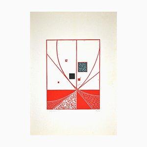 Luigi Veronesi, Composition, Original Linocut, 1975