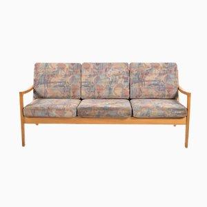 Three Seater Oak Sofa by Ole Wanscher by P. Jeppesens Møbelfabrik