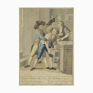 Acquaforte originale, Carlo Lasinio, toscana, 1786