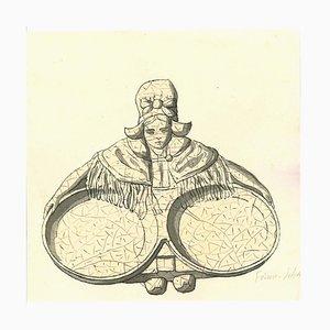 Bougeoirs de Normandie, Encre Originale, Fin 19ème Siècle