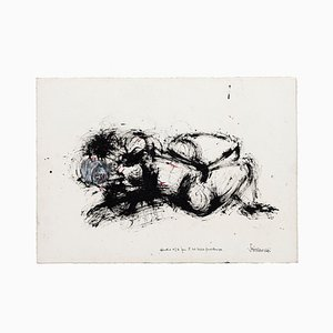 Study N°3, Original Ink Drawing, Late 20th Century