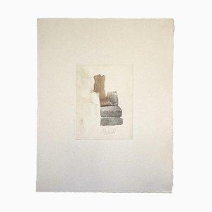 Ländliche Landschaft, Vintage Offset Druck Nach Giorgio Morandi, 1973