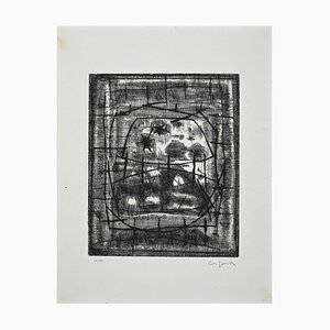 Antonio Corpora, Untitled, Original Etching, Mid-20th Century