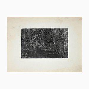 Eduardo Paolozzi, Jardin, Gravure Originale, Fin 20ème Siècle