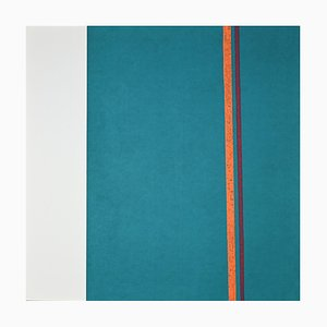 Eleni Zerva, Cosmo Verde, L'aranciato, Original Lithograph, 1971