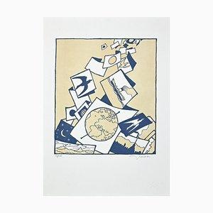 Francesco Casorati, Ohne Titel, Originaler Siebdruck, spätes 20. Jahrhundert
