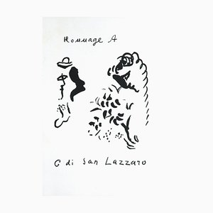 Tribute to San Lazzaro, Original Lithograph, 1975