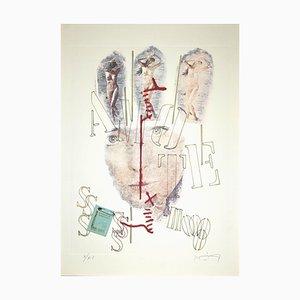 Rodolfo Vitone, La Lettera Selvaggia, Original Lithograph, 1993