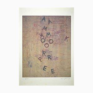 Lithographie Rodolfo Vitone, La Lettera Selvaggia, Original Lithograph, 1993