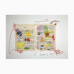 Giuseppe Chiari, Fluxus Music, Original Lithograph, Late 20th Century