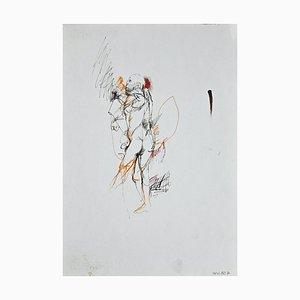 Leo Guida, Standing Male Nude, Original Ink Drawing, 1970s