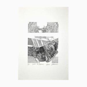 Walter Accigliato, Postille alla Gibigianna, Original Etching, 1983