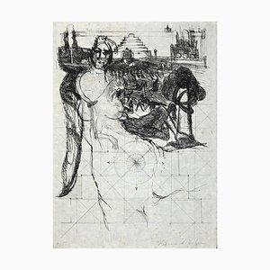 Bernard Dufour, Ohne Titel, Originale Radierung, spätes 20. Jahrhundert