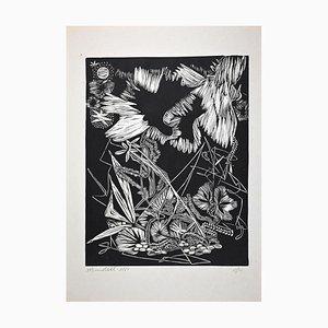 Mario Benedetti, Fantastic Nature No. 4, Original Lithograph, 1965