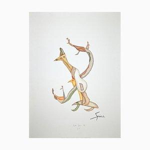 Pietro Spica, Figures, Original Screen Print, 1996