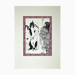 Le Serment, Original Lithographie nach Aubrey Beardsley, 1970