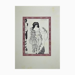 Lysistrata, Original Lithograph After Aubrey Beardsley, 1970