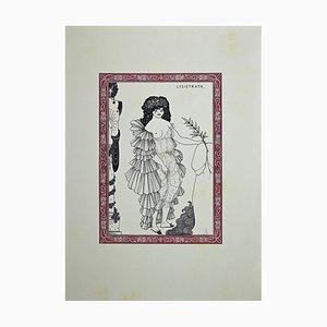 Lysistrata, Original Lithographie nach Aubrey Beardsley, 1970