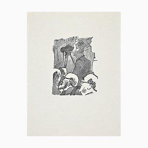 Ernesto Romagnoli, The Projection, Original Woodcut, 1963