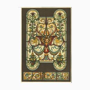 Motivos decorativos, Renacimiento alemán, Litografía original, siglo XX