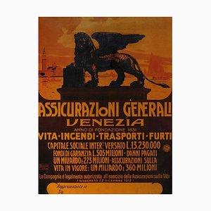 Unknown - Assicurazioni Generali Affiche - Vintage Offset Poster - 20th-Century