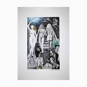 Renato Guttuso - Allegories: Lies - Offset Print - 1979