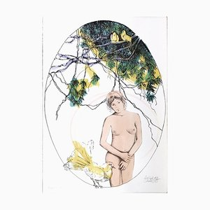 Andrea Quarto - Spring - Hand-Colored Lithography - 1985